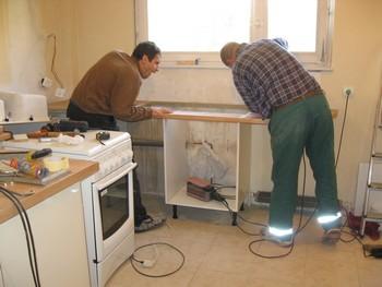 meuble plan de travail cuisine. plan de travail cuisine en beton ... - Meuble Cuisine A Poser Sur Plan De Travail